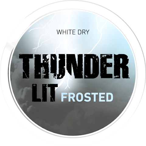 Thunder Lit Frosted White Dry Portion Extra Strong