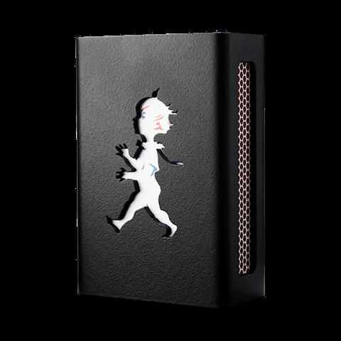 Hommage tändsticksaskfodral svart liten - Design: Kristina Stark