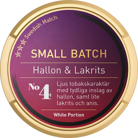 Small Batch Hallon/Lakrits White Portion