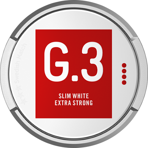 G.3 Slim White Portion Extra Strong
