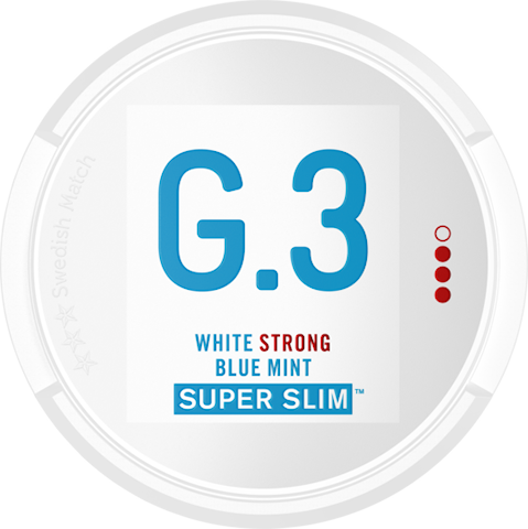 G.3 Blue Mint Super Slim White Portion Strong