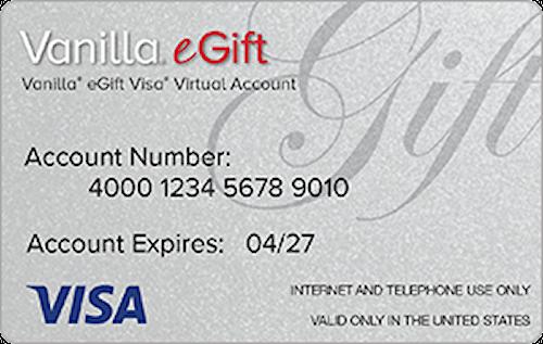 E-Gift Card: Visa $50