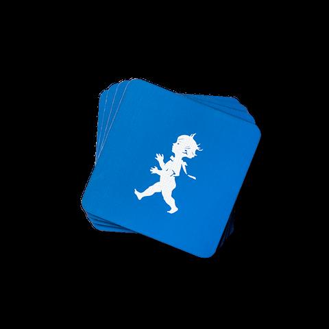 Solstickan glasunderlägg blå 4-pack