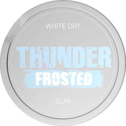 Thunder Frosted White Dry Slim Extra Strong
