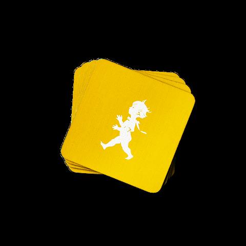 Solstickan glasunderlägg gul 4-pack